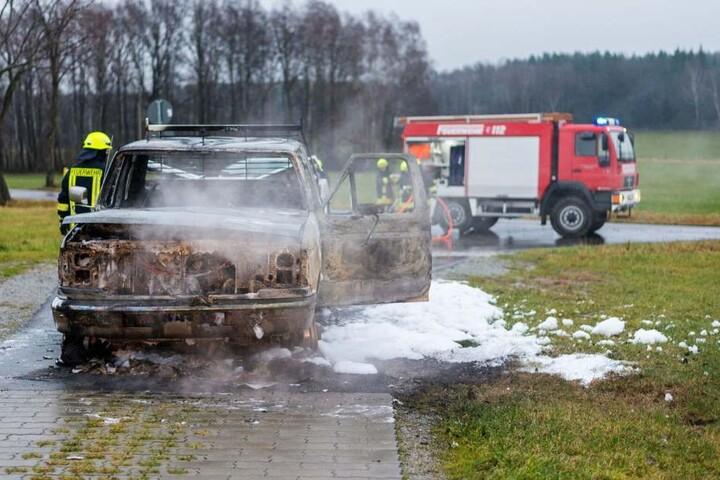 Wurde das Auto angezündet, um Spuren zu verwischen?