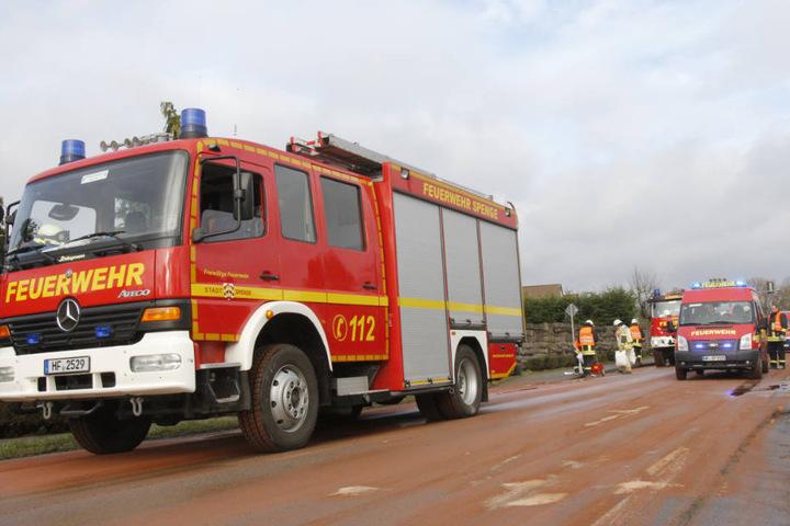 Rund 60 Feuerwehrmänner waren im Einsatz.