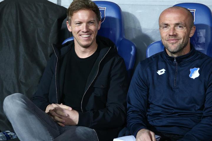 Alfred Schreuder (rechts im Bild) hatte bereits von Oktober 2015 bis Januar 2018 als Co-Trainer von Julian Nagelsmann gearbeitet.