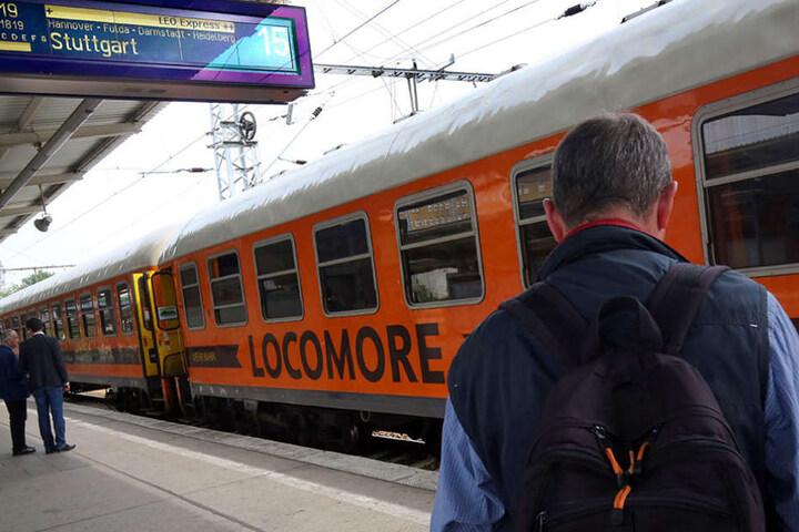 """Am Donnerstagnachmittag fuhr der Locomore-Fernzug von Berlin-Lichtenberg nach Stuttgart und war bereits """"zu zwei Dritteln ausgebucht""""."""