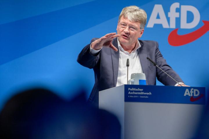 Jörg Meuthen, Bundesvorstandssprecher der AfD spricht beim politischen Aschermittwoch der AfD.