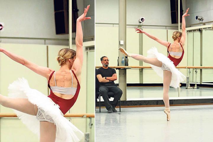Probenstunde mit Gamal Gouda, 1. Ballettmeister der Semperoper.
