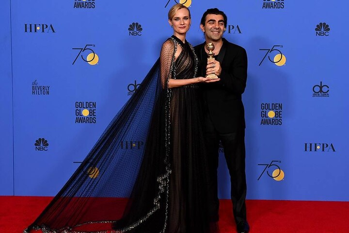 Diane Kruger und Fatih Akin mit dem Golden Globe am 07.01.2018 in Beverly Hills.