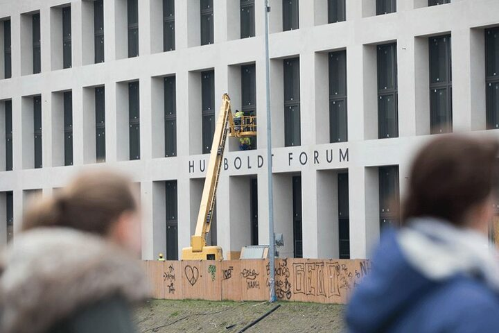 Blick auf das Humboldtforum in Berlin.