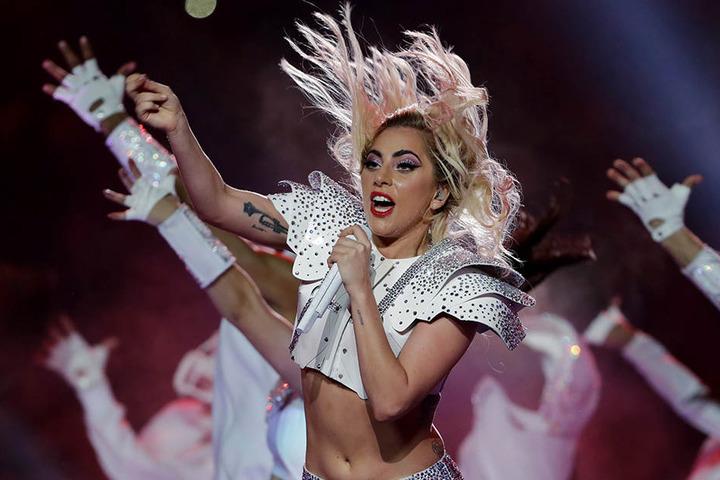 Lady Gaga live in Aktion.