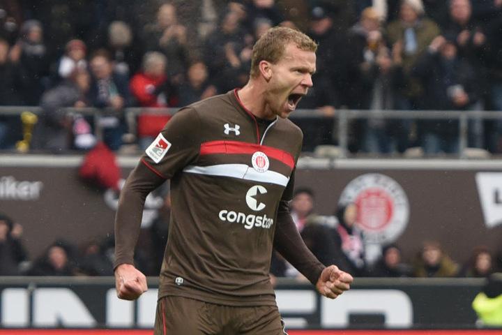 Henk Veerman schoss den Ausgleich für den FC St. Pauli.