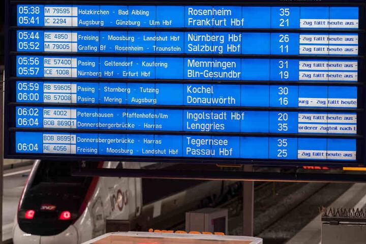 Nichts geht mehr am Hauptbahnhof München.