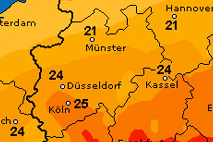 Die Temperaturen sinken leicht. Bei maximal 23 Grad ist Schluss.