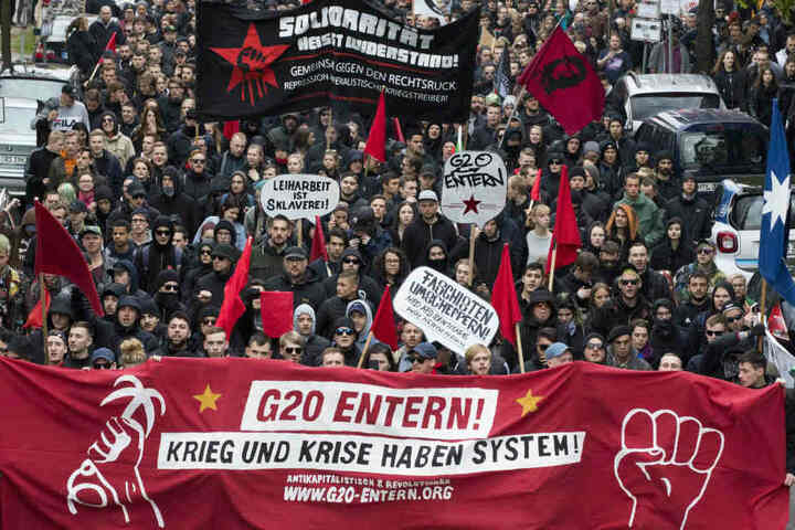 Der finanzielle Aufwand für den G20 geht auch vielen Demonstranten zu weit.
