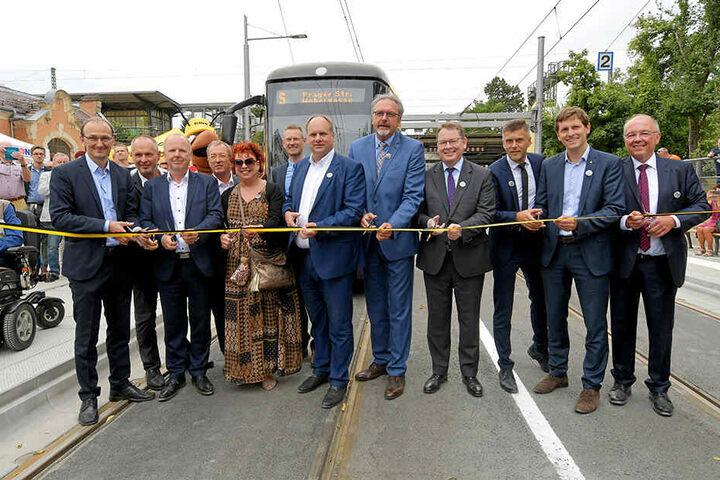 Gestern wurde die neue Trasse an der Oskarstraße feierlich eröffnet.
