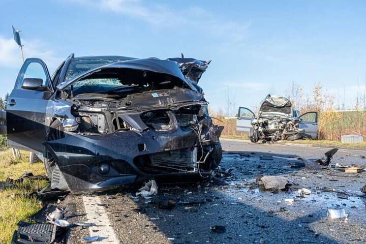 Beide Fahrzeuge stießen frontal zusammen, rechts der Fiat des mutmaßlichen Unfallverursachers.
