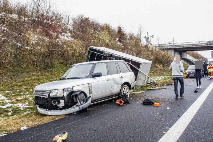 Die A8 in Richtung München war teils komplett gesperrt.