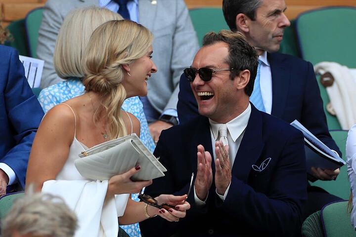Das Paar saß am elften Turniertag mitten im Publikum.