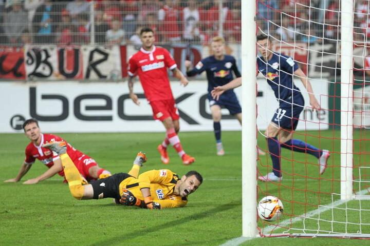 Hier traf Nils Quaschner (r.) gegen Union Berlin in Liga zwei. Bald dürfte der Stürmer in Dänemark auf Torejagd gehen.