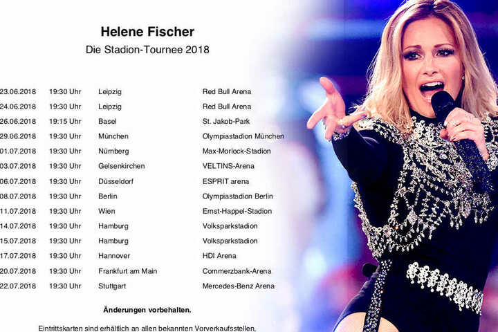 Alles Schwarz Stromausfall Bei Helene Fischers Auftakt