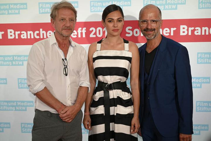 Der Regisseur Sönke Wortmann (l-r) und die Schauspieler Nilam Farooq und Christoph Maria Herbst