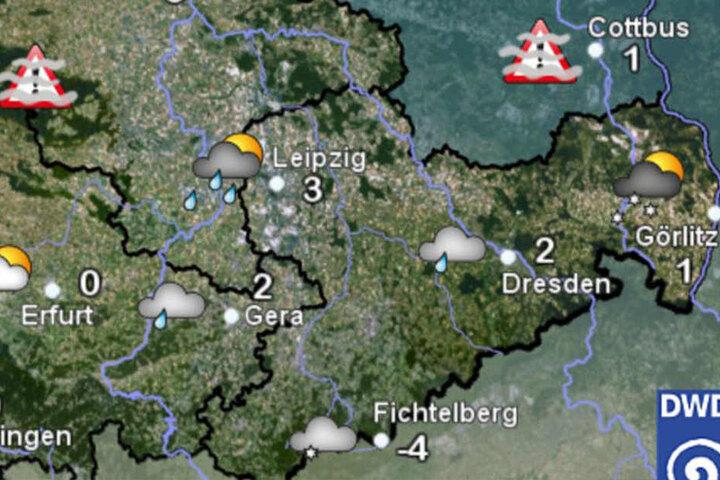Aktuell liegen die Temperaturen in Sachsen bei Minus vier bis Plus drei Grad. In den nächsten Tagen soll es noch kälter werden.