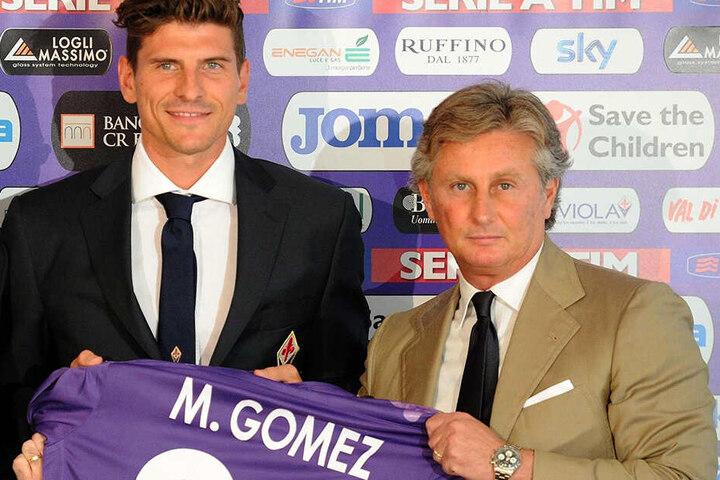 In seiner ersten Amtszeit beim AC Florenz, holte Prade 2013 auch Mario Gomez vom FC Bayern in die Toskana.