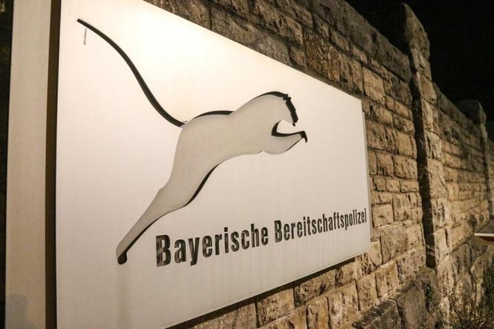 Die Bayerische Bereitschaftspolizei in Würzburg.