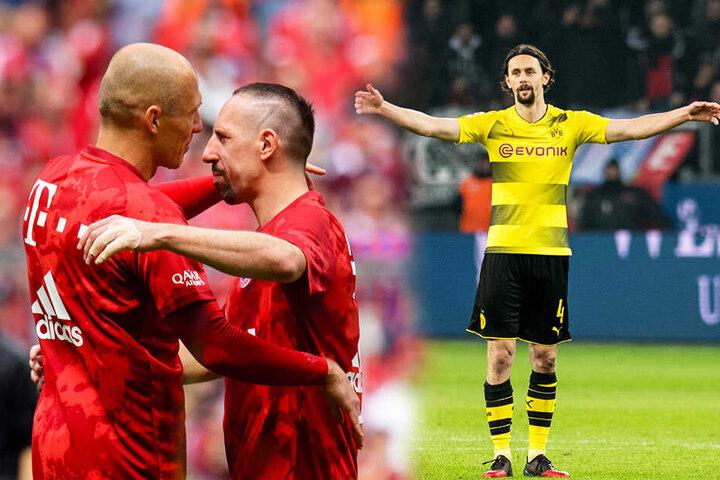 Arjen Robben (l.), Franck Ribery (M.) und Neven Subotic könnten mit ihren Qualitäten viele Mannschaften verstärken. (Bildmontage)
