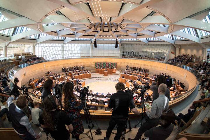 Der NRW-Landtag tagte am Mittwoch in Düsseldorf.
