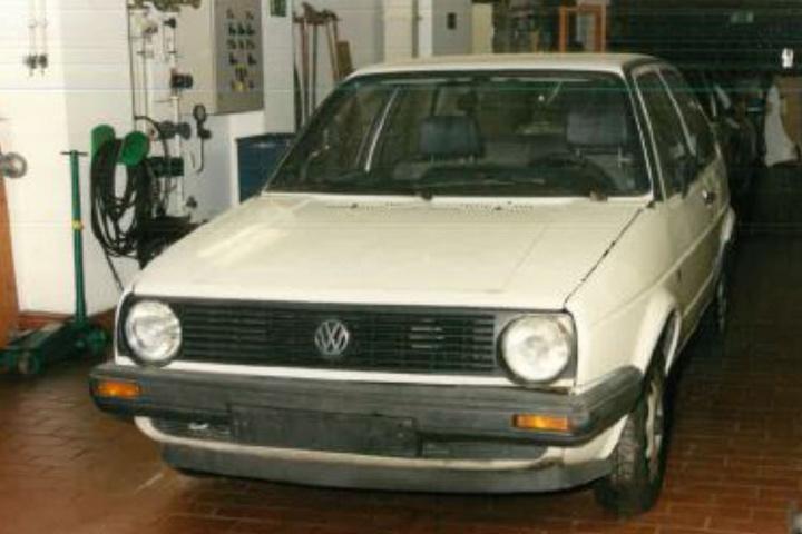 Das Auto des Vermissten Axel Fritz Bonin von vorne.