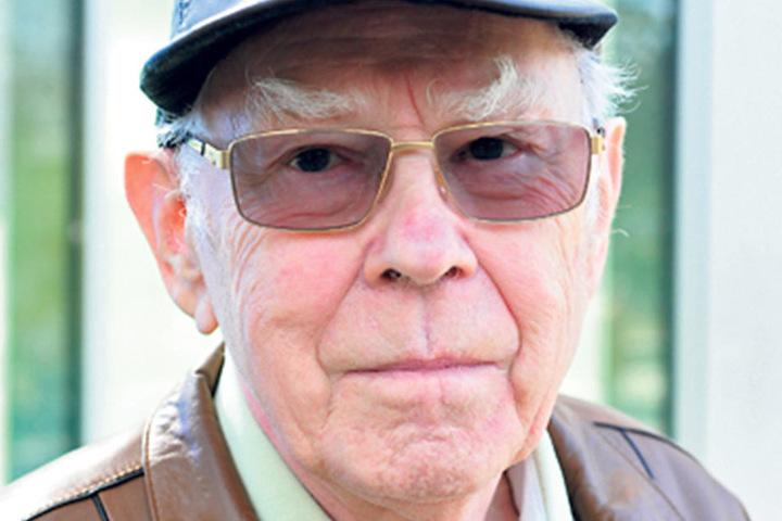 """Otto Herr (82), Rentner aus Chemnitz: """"Als alter Chemnitzer wähle ich wie immer Die Linke. Das sind für mich die einzigen, die etwas Vernünftiges tun."""""""