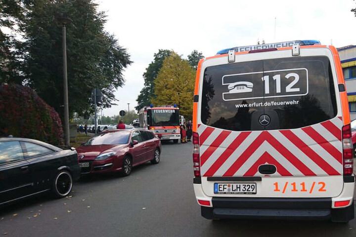 Feuerwehr und Polizei sind vor Ort.