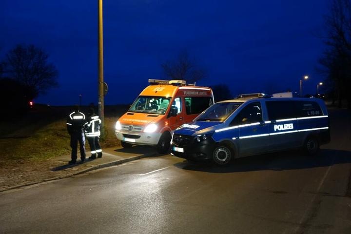 Auf einem Feld an der Engelsdorfer Straße fand die Sprengung statt.