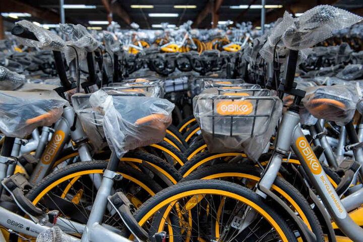 Mit den Fahrrädern wollte Obike auch in Hamburg ein neues Leihrad-System aufbauen.