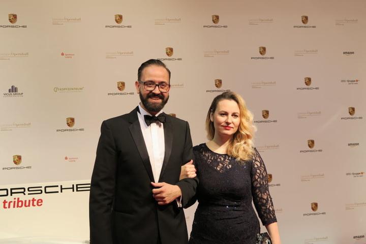 Sachsens Justizminster Sebastian Gemkow zusammen mit seiner Frau.