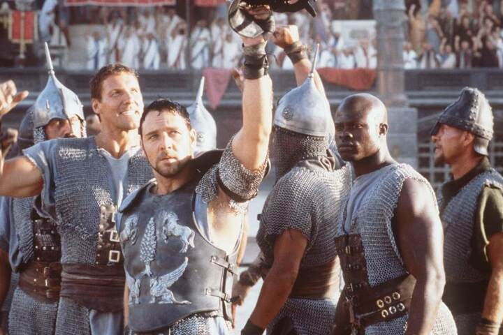 "Mit Russel Crowe im Hollywood-Hit ""Gladiator""."