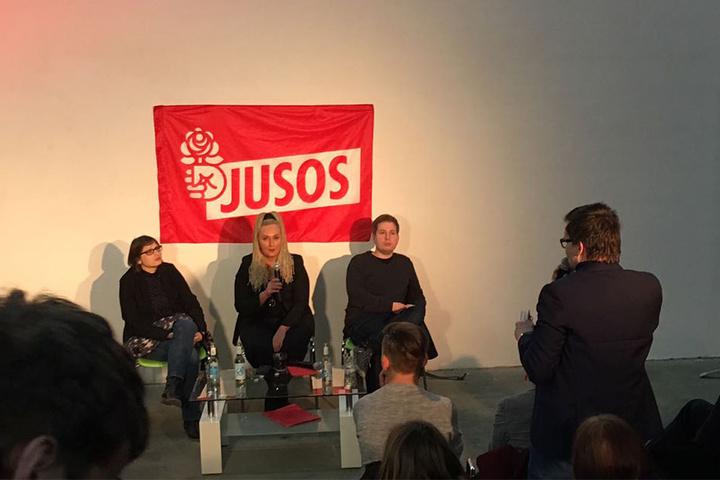 Einige Gäste nutzten die Fragerunde für ausgiebige Statements. An der SPD-Basis herrscht offenbar Redebedarf.