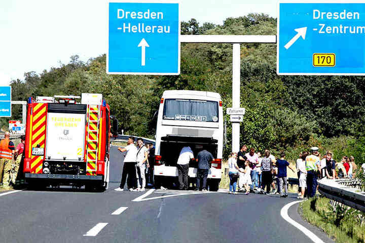 Die Feuerwehr war auf der A4 im Einsatz.