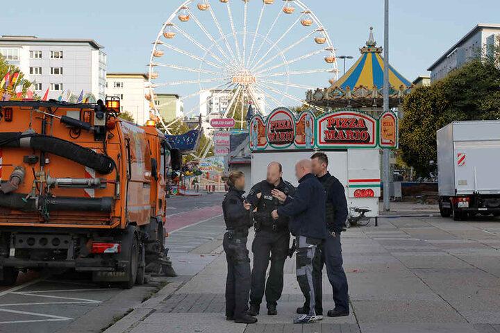 Auch Teile des Stadtfest-Geländes wurden abgesucht.