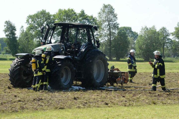 Den Totalschaden am Traktor konnten sie nicht verhindern.