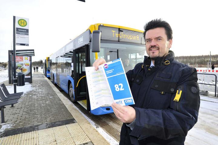 Anfang Dezember 2017 präsentierte CVAG-Chef Jens Meiwald (53) die neue Ringbuslinie 82. Jetzt gibts erste Änderungen.