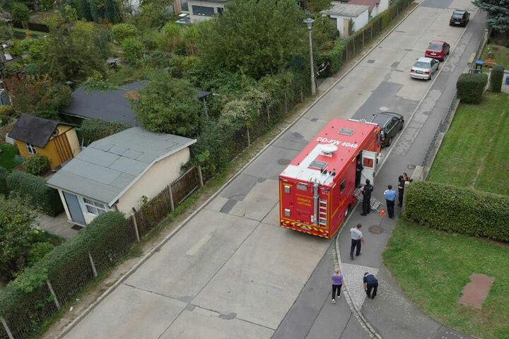 Die Einsatzleitung der Feuerwehr vor Ort.