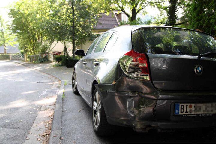Im hinteren Bereich sieht der BMW etwas mitgenommen aus.