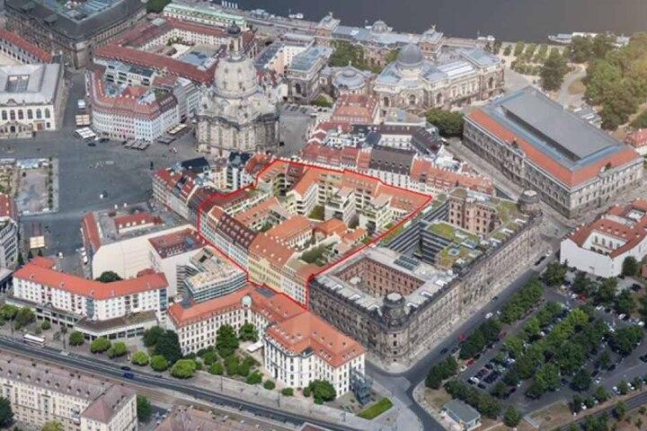 """Bislang gibt's das Projekt nur auf dem Papier. So will die CG-Gruppe bis 2021 das """"Quartier Hoym"""" errichten."""