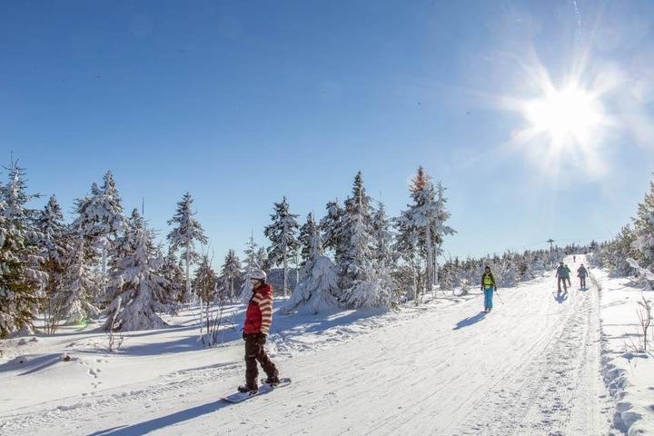 Viel Schnee und beste Wintersportbedingungen in Oberwiesental.