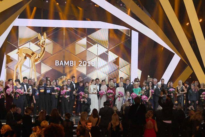 Die Preisträger und Laudatoren der Bambi-Verleihung 2019.