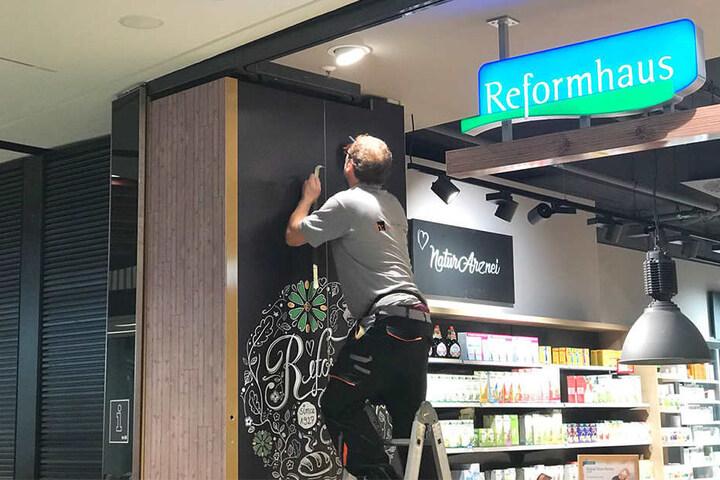 Am Reformhaus wird derzeit noch gearbeitet.
