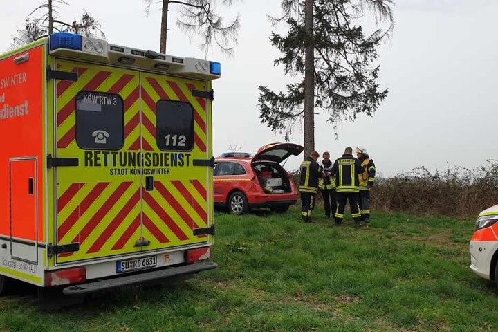 Nach der Bergung wurde der Verletzte in ein Krankenhaus gebracht.