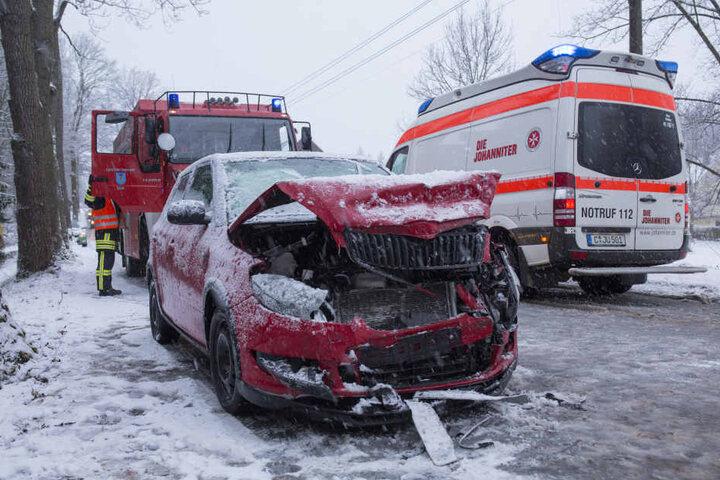 In Tannenberg krachten zwei Autos zusammen.