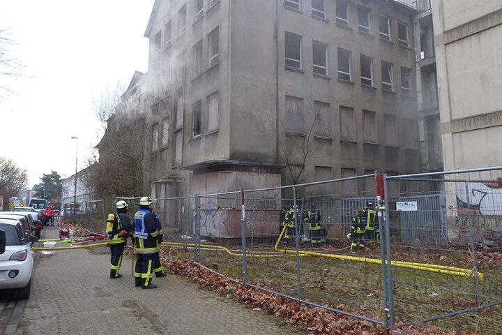 Das Temde-Gebäude stand in Flammen.