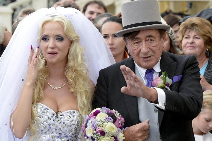 Cathy undRichard Lugner(83) bei der gemeinsamen Hochzeit.