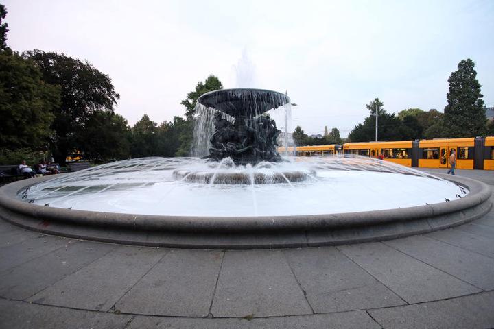 Der Brunnen am Alberplatz soll am Sonnabend gereinigt werden.