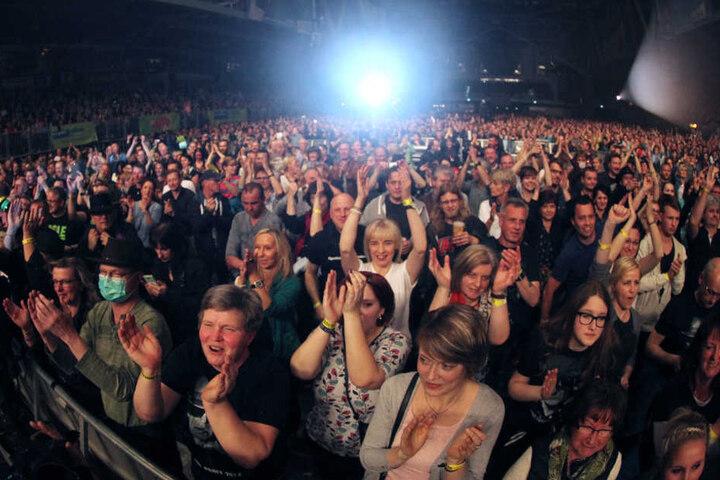 Die Menge tobte in der Chemnitz-Arena