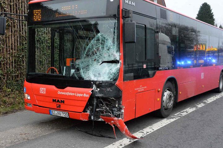 Der Linienbus fuhr ins Heck des Seats.